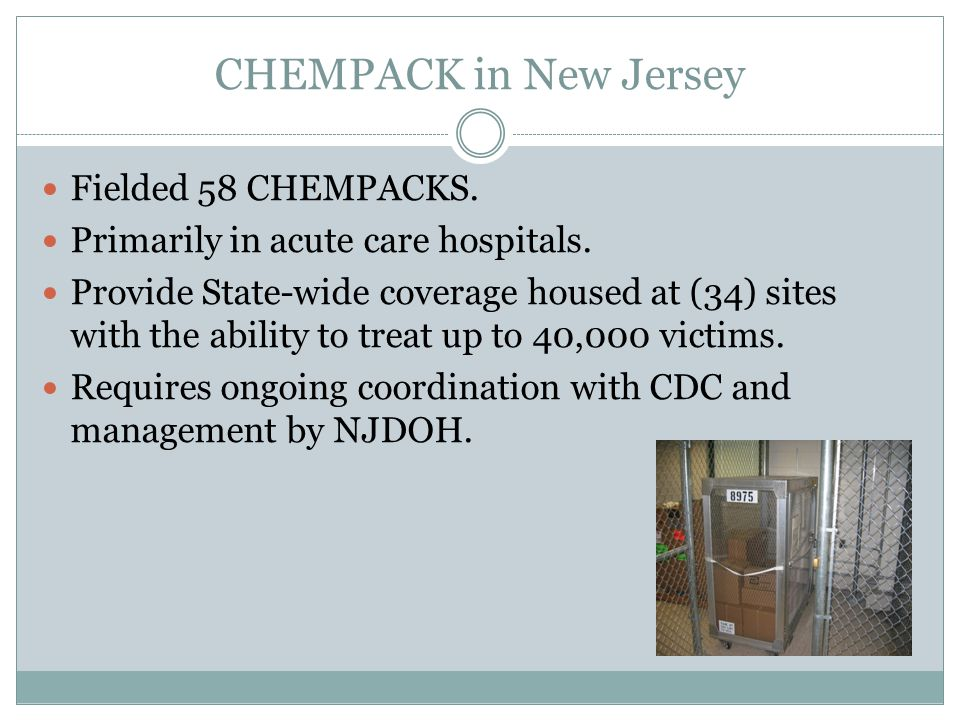 CHEMPACK in New Jersey Fielded 58 CHEMPACKS.