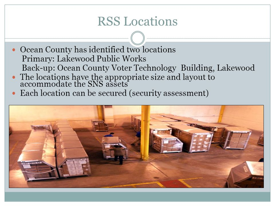 RSS Locations Ocean County has identified two locations
