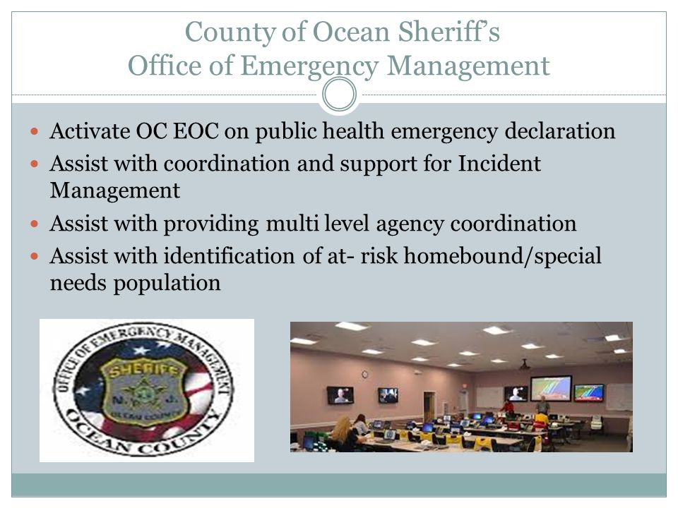 County of Ocean Sheriff's Office of Emergency Management