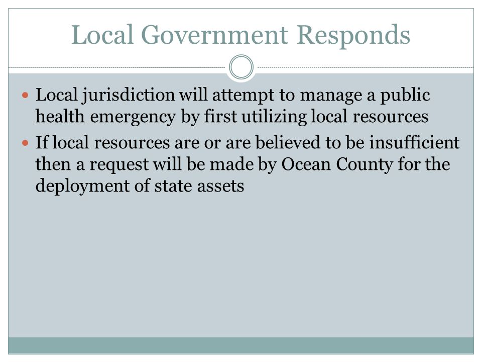 Local Government Responds