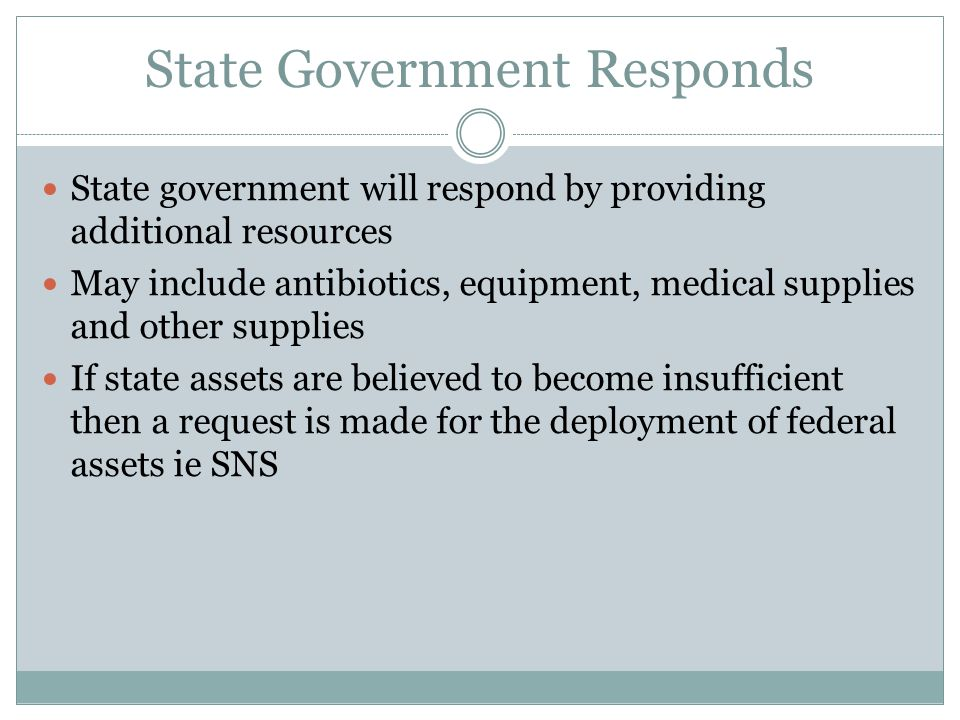 State Government Responds