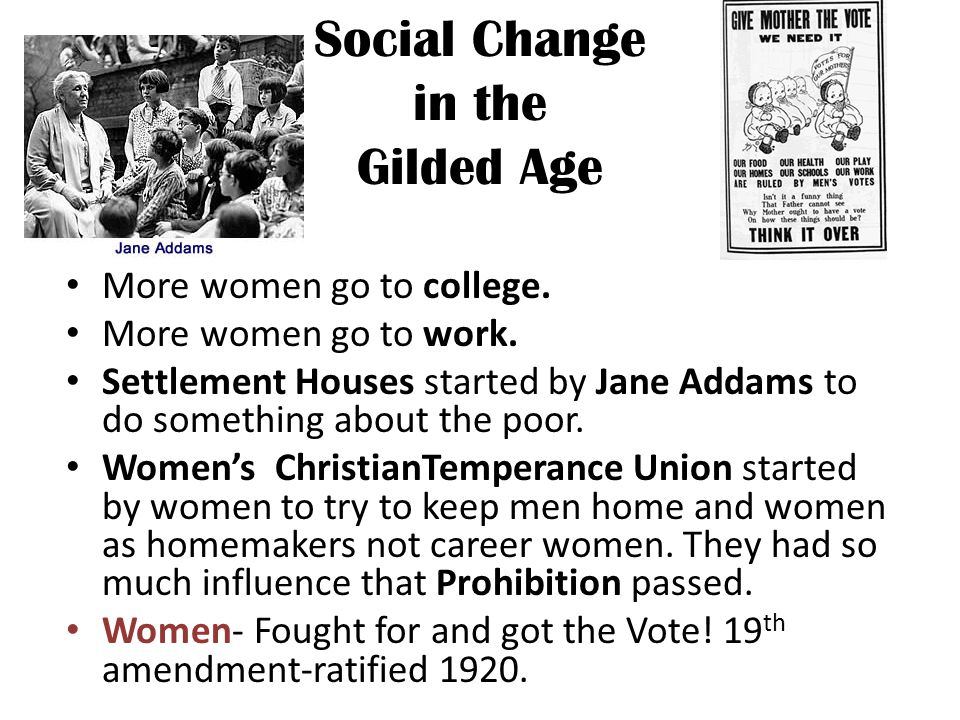 Social Change in the Gilded Age