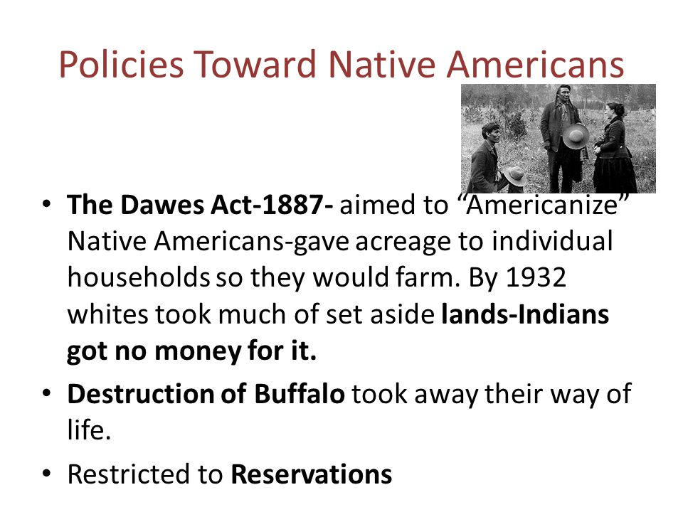 Policies Toward Native Americans