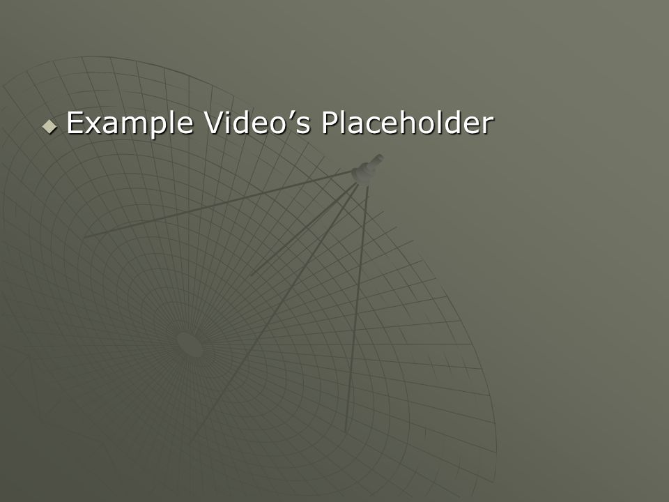 Example Video's Placeholder