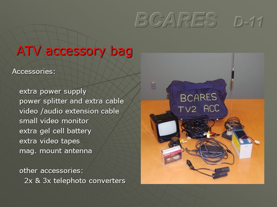BCARES D-11 ATV accessory bag Accessories: extra power supply