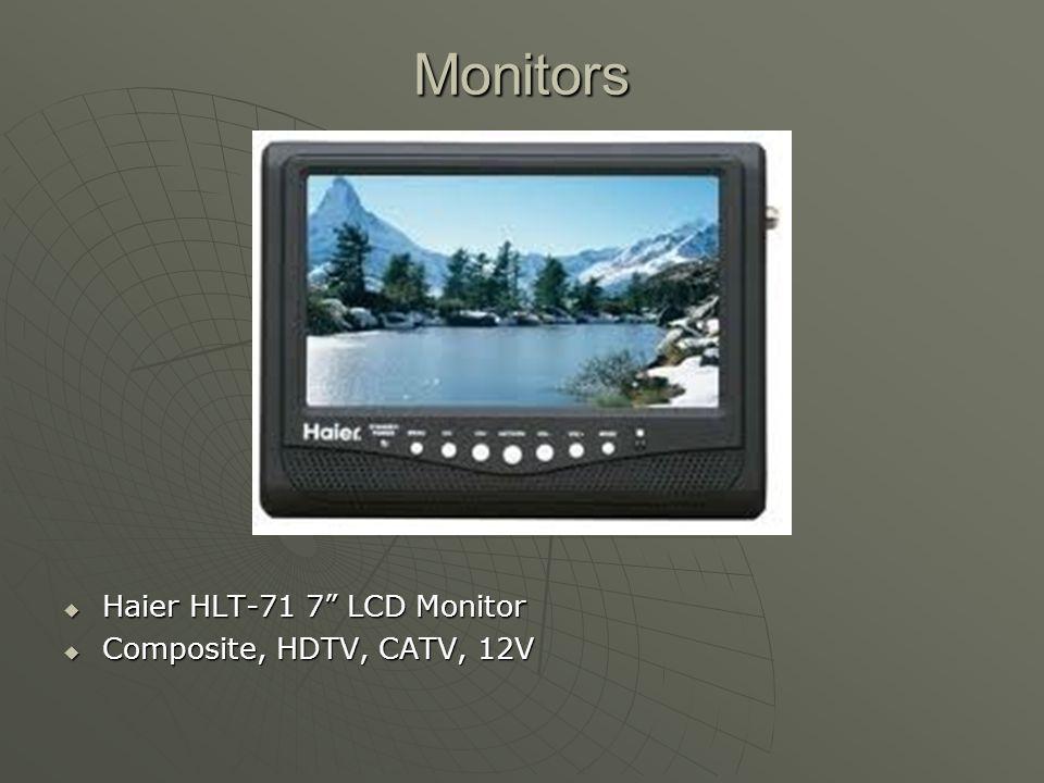 Monitors Haier HLT-71 7 LCD Monitor Composite, HDTV, CATV, 12V