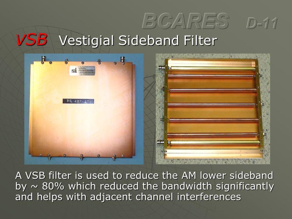 BCARES D-11 VSB Vestigial Sideband Filter