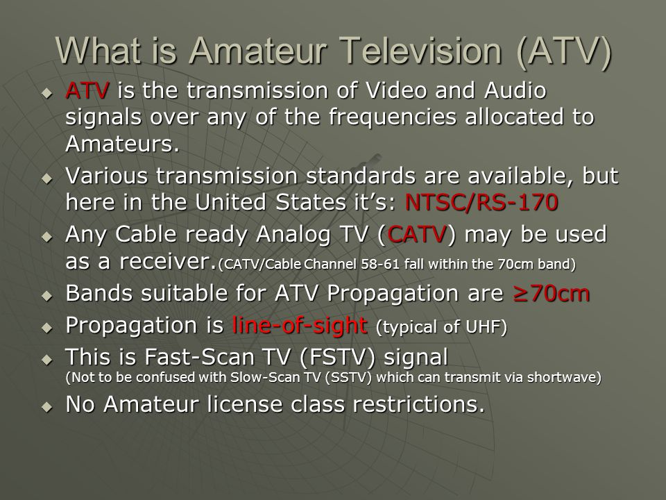 What is Amateur Television (ATV)