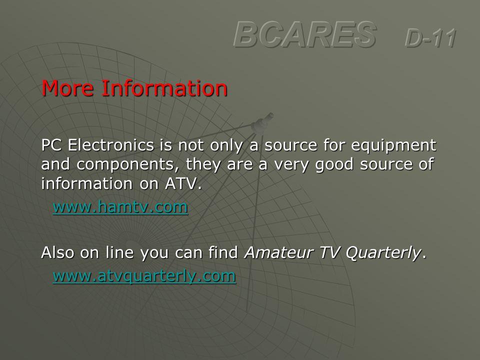 BCARES D-11 More Information