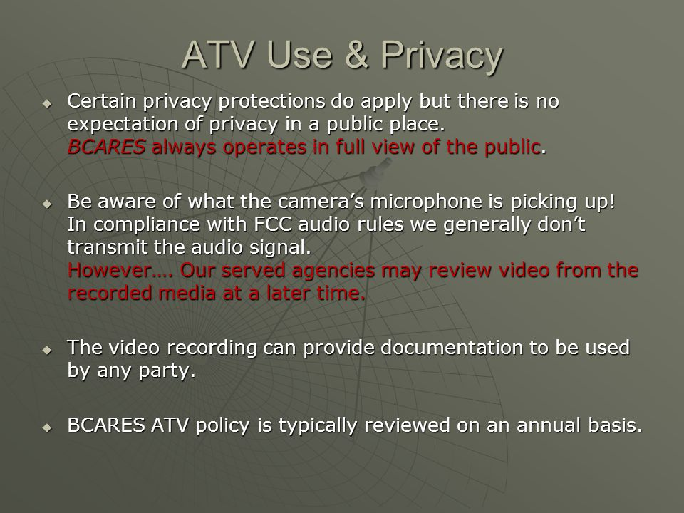 ATV Use & Privacy