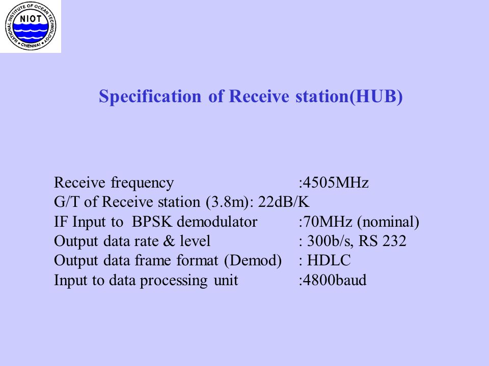 Specification of Receive station(HUB)