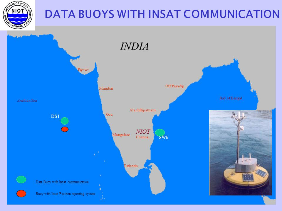 DATA BUOYS WITH INSAT COMMUNICATION