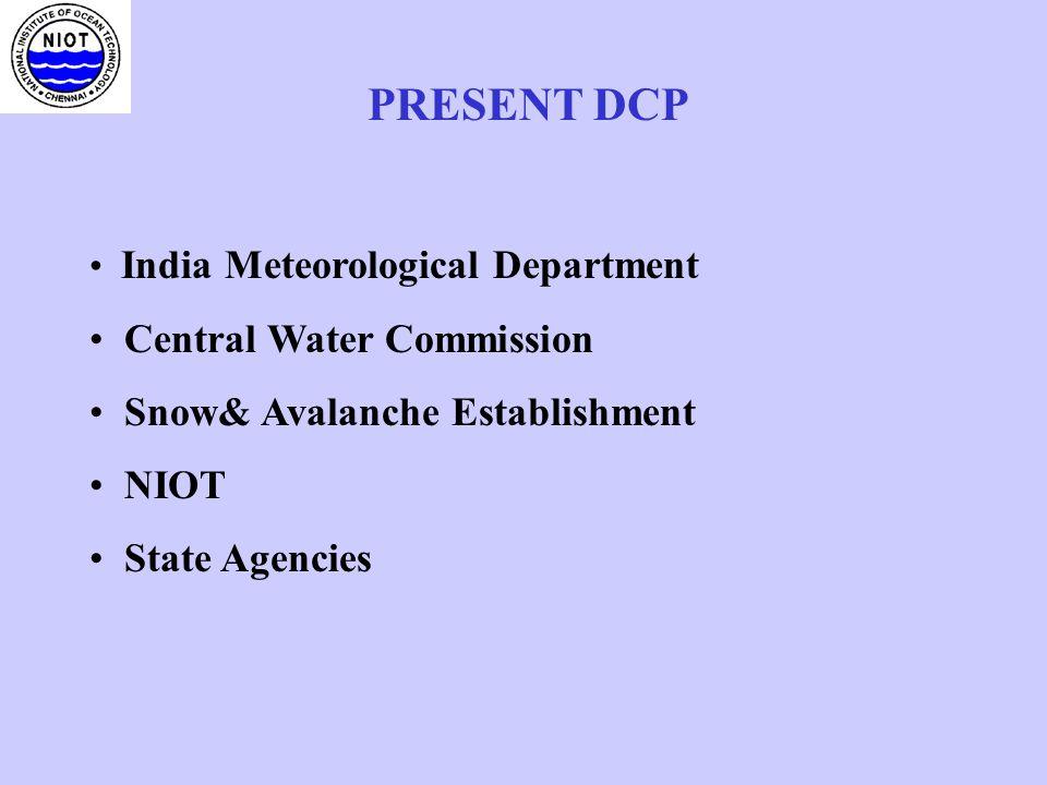 PRESENT DCP Central Water Commission Snow& Avalanche Establishment
