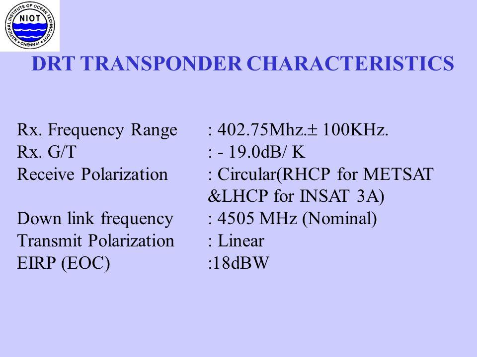 DRT TRANSPONDER CHARACTERISTICS