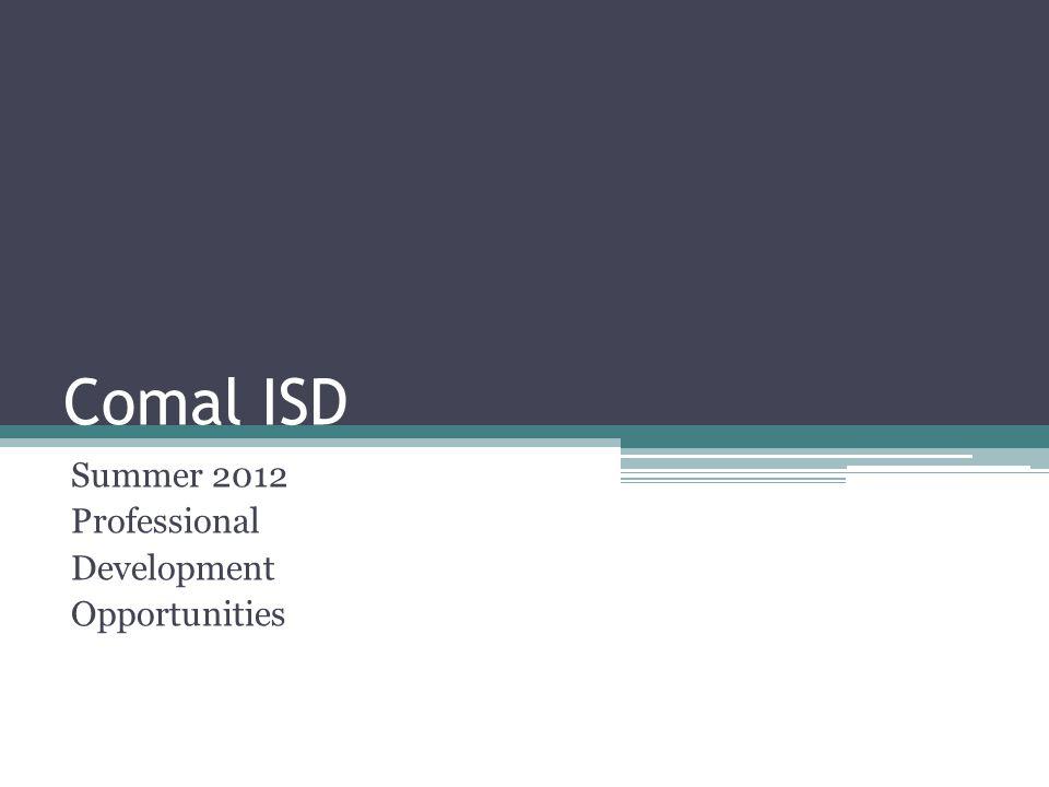 Summer 2012 Professional Development Opportunities