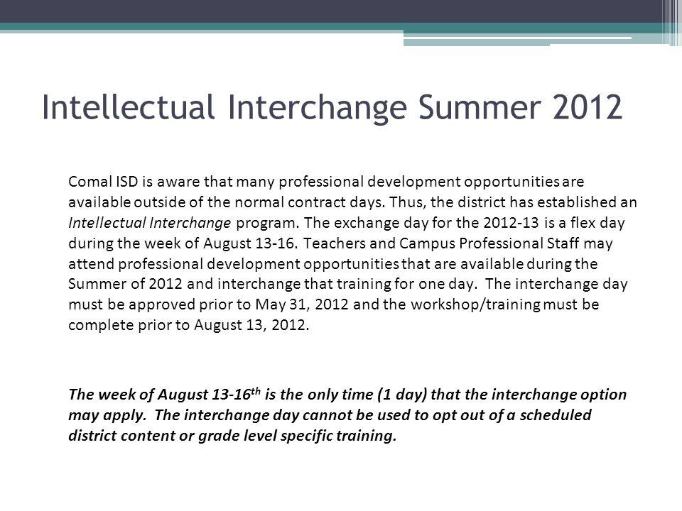 Intellectual Interchange Summer 2012