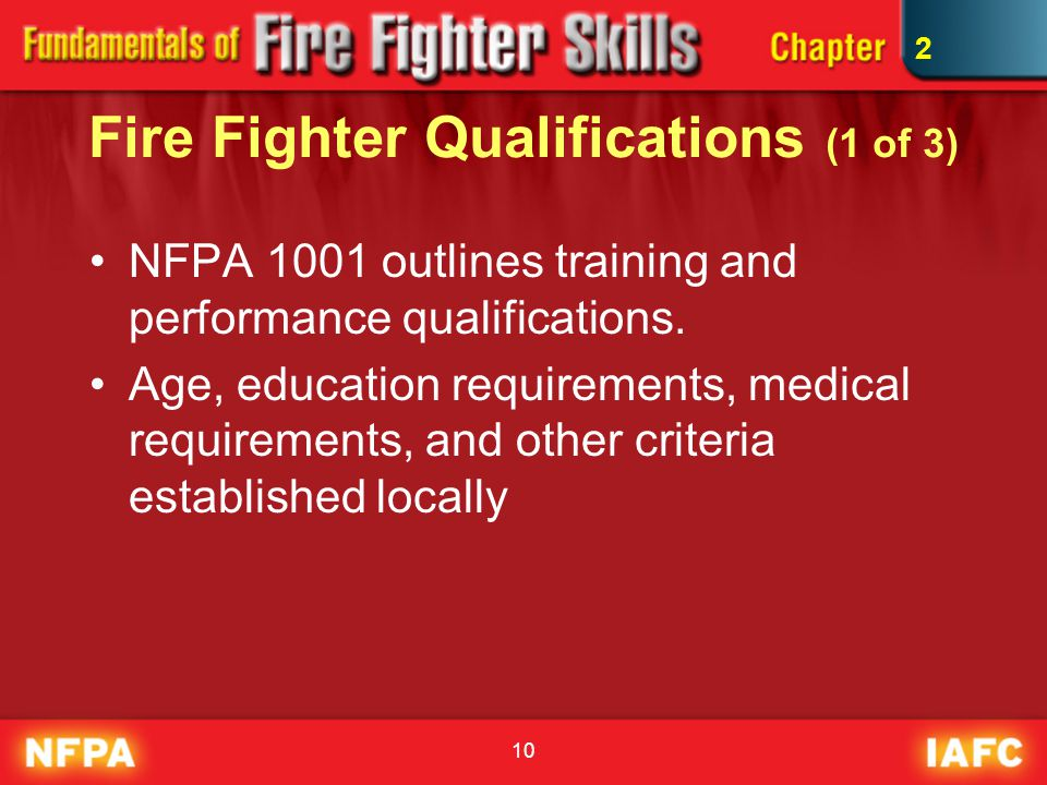 Fire Fighter Qualifications (1 of 3)