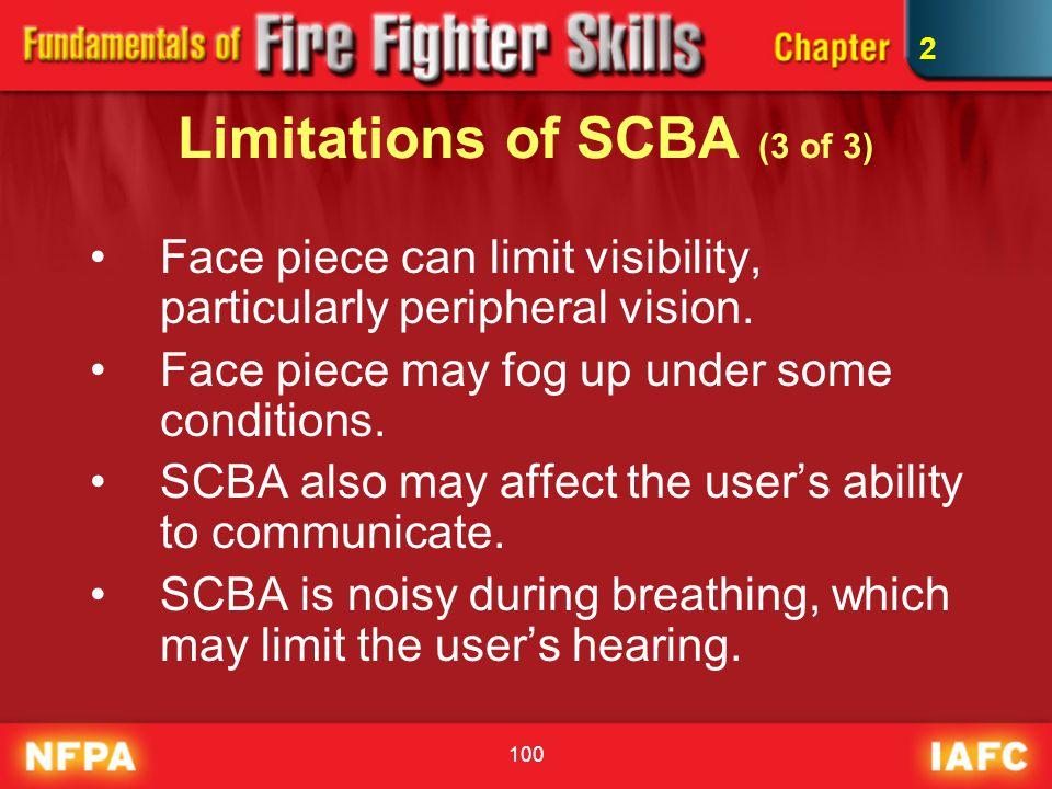 Limitations of SCBA (3 of 3)