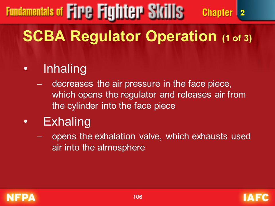 SCBA Regulator Operation (1 of 3)