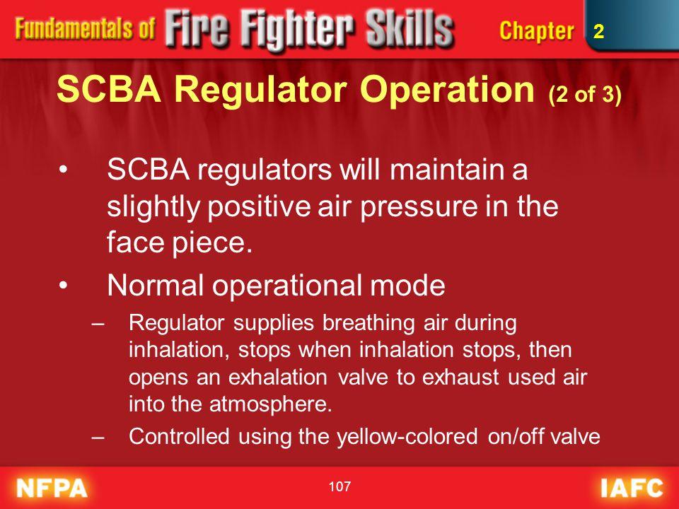SCBA Regulator Operation (2 of 3)