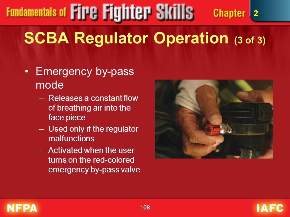 SCBA Regulator Operation (3 of 3)