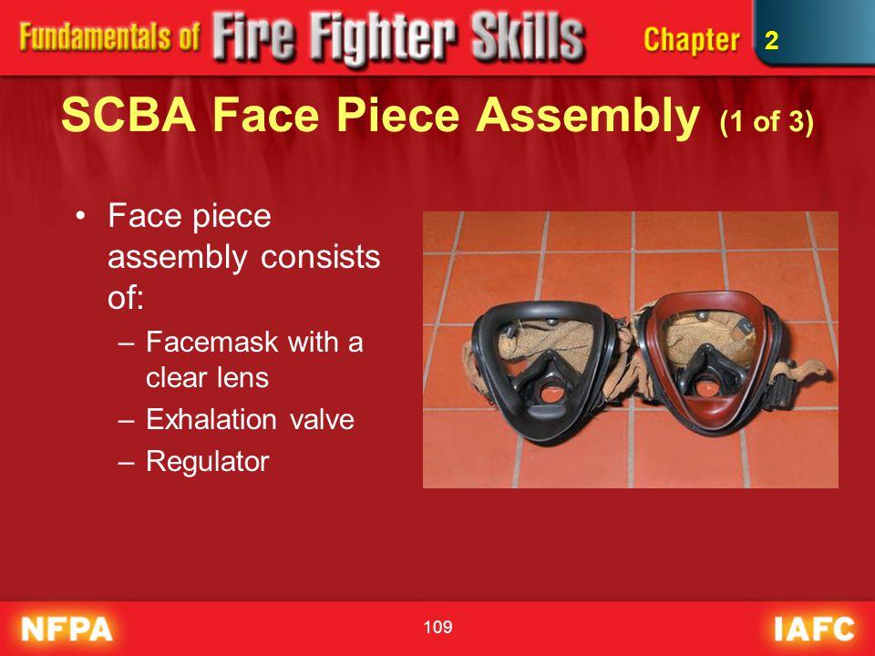 SCBA Face Piece Assembly (1 of 3)
