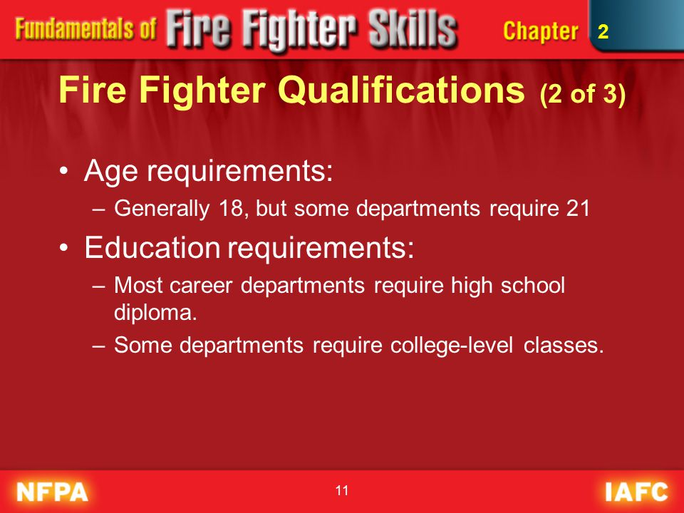 Fire Fighter Qualifications (2 of 3)