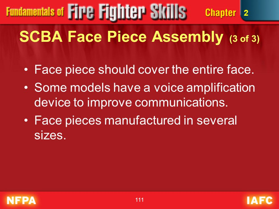 SCBA Face Piece Assembly (3 of 3)