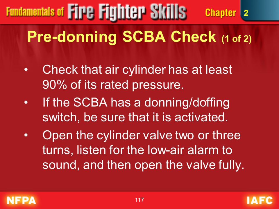 Pre-donning SCBA Check (1 of 2)