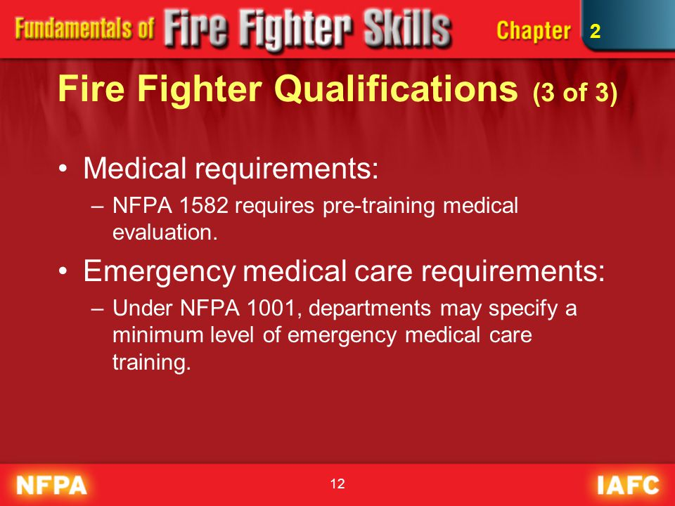 Fire Fighter Qualifications (3 of 3)