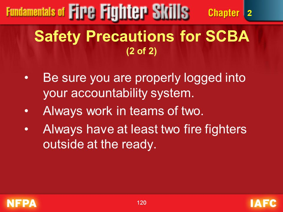 Safety Precautions for SCBA (2 of 2)
