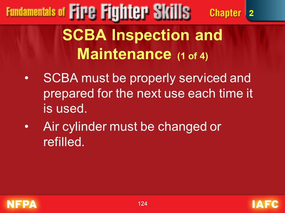 SCBA Inspection and Maintenance (1 of 4)