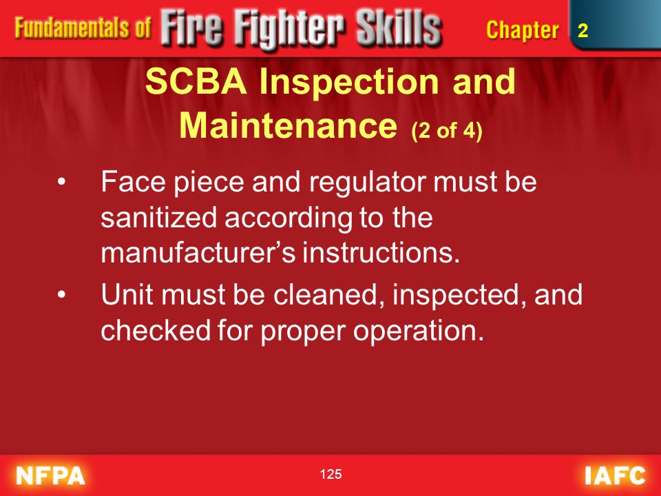 SCBA Inspection and Maintenance (2 of 4)