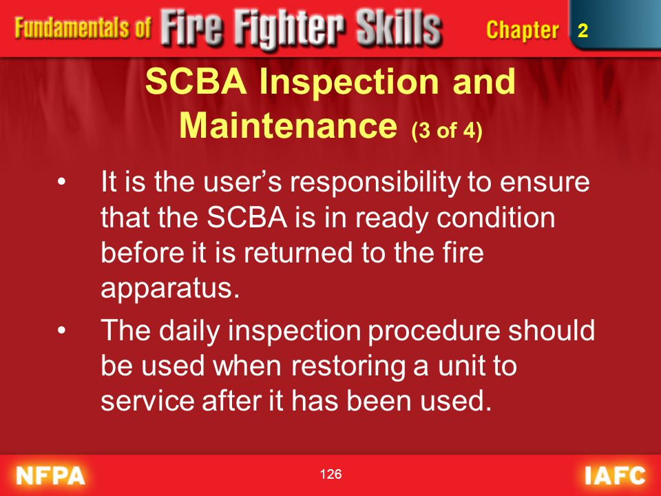 SCBA Inspection and Maintenance (3 of 4)