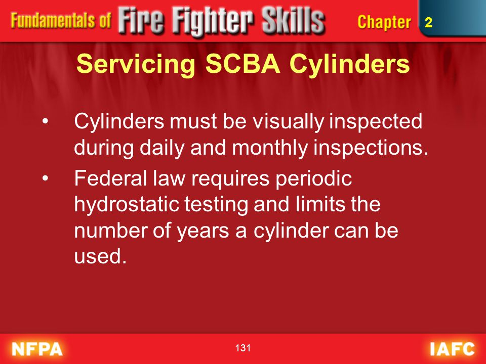 Servicing SCBA Cylinders