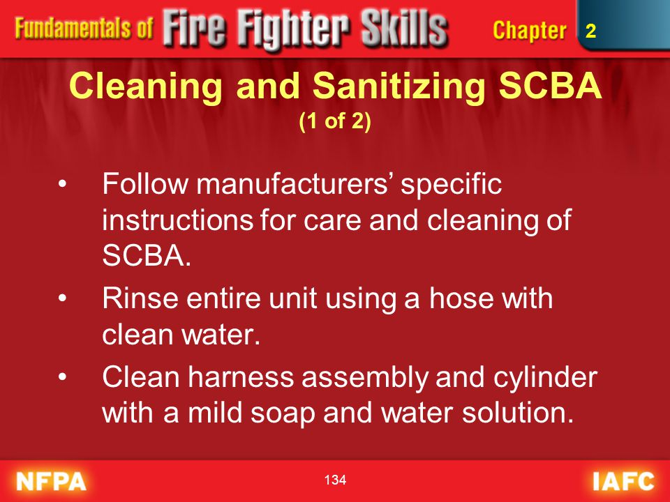 Cleaning and Sanitizing SCBA (1 of 2)