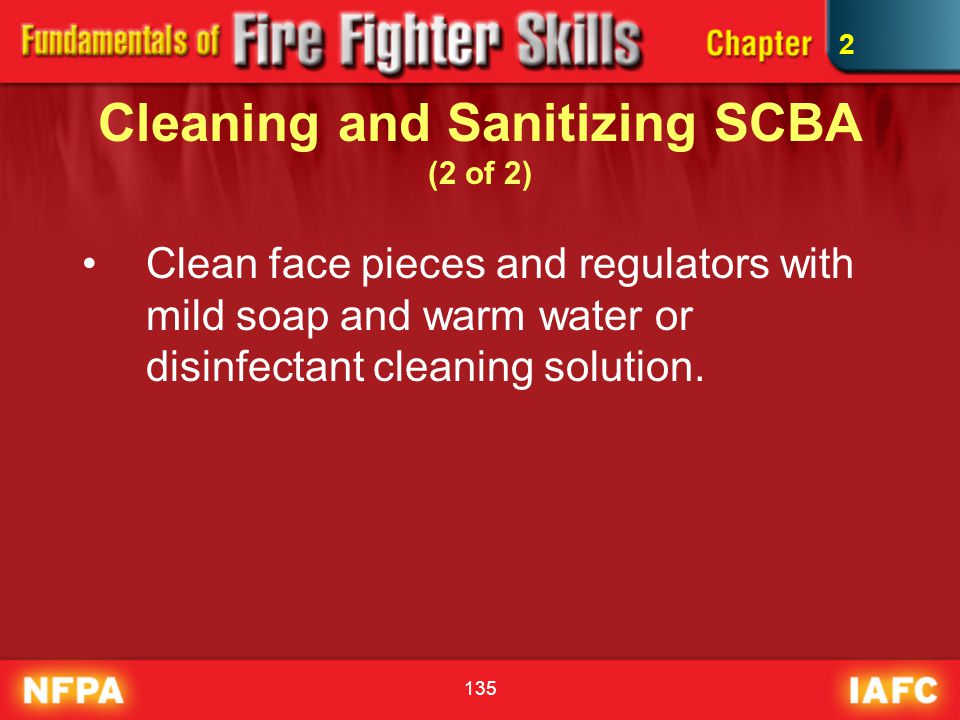 Cleaning and Sanitizing SCBA (2 of 2)
