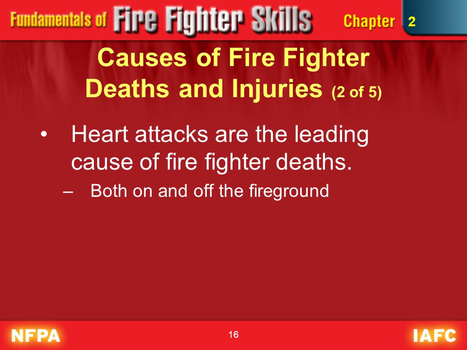 Causes of Fire Fighter Deaths and Injuries (2 of 5)