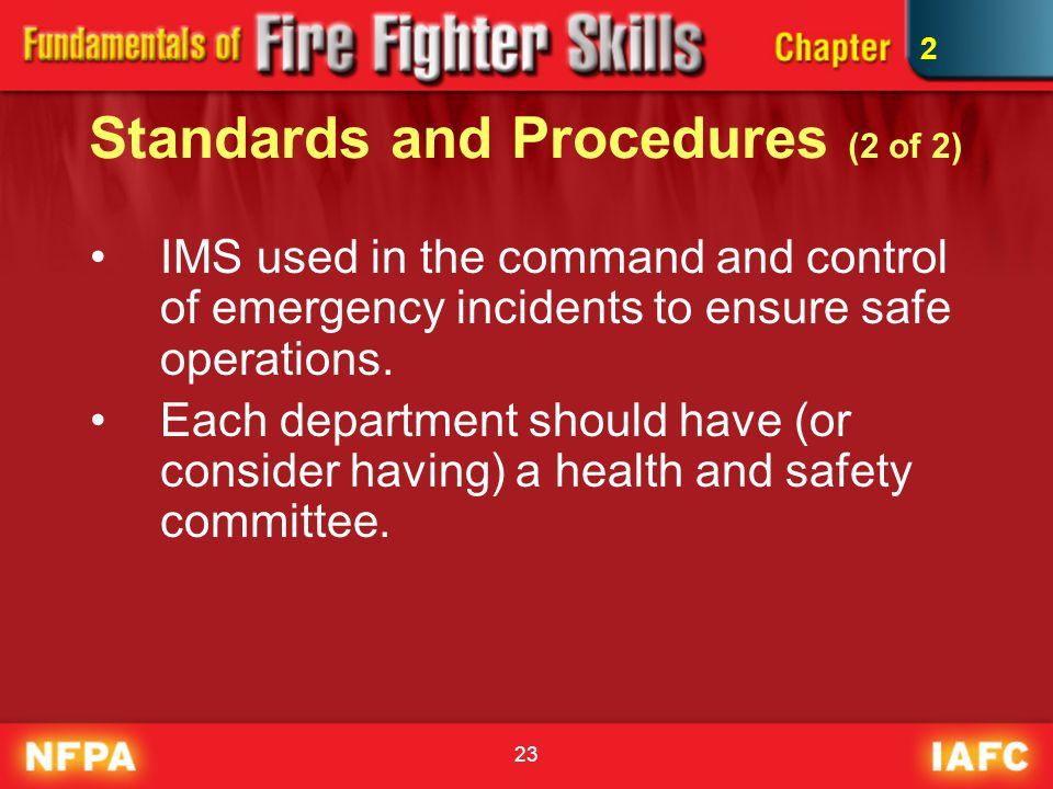 Standards and Procedures (2 of 2)
