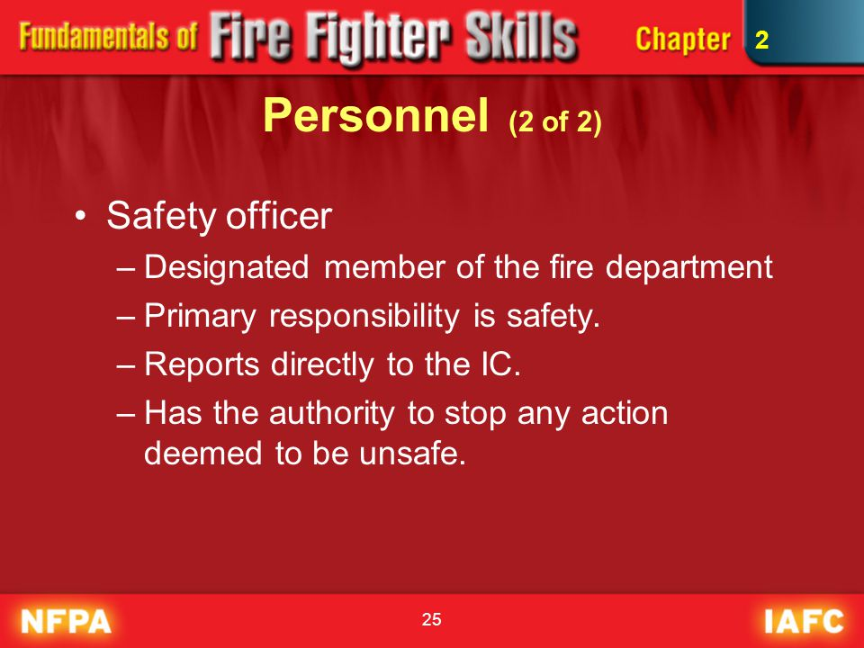 Personnel (2 of 2) Safety officer