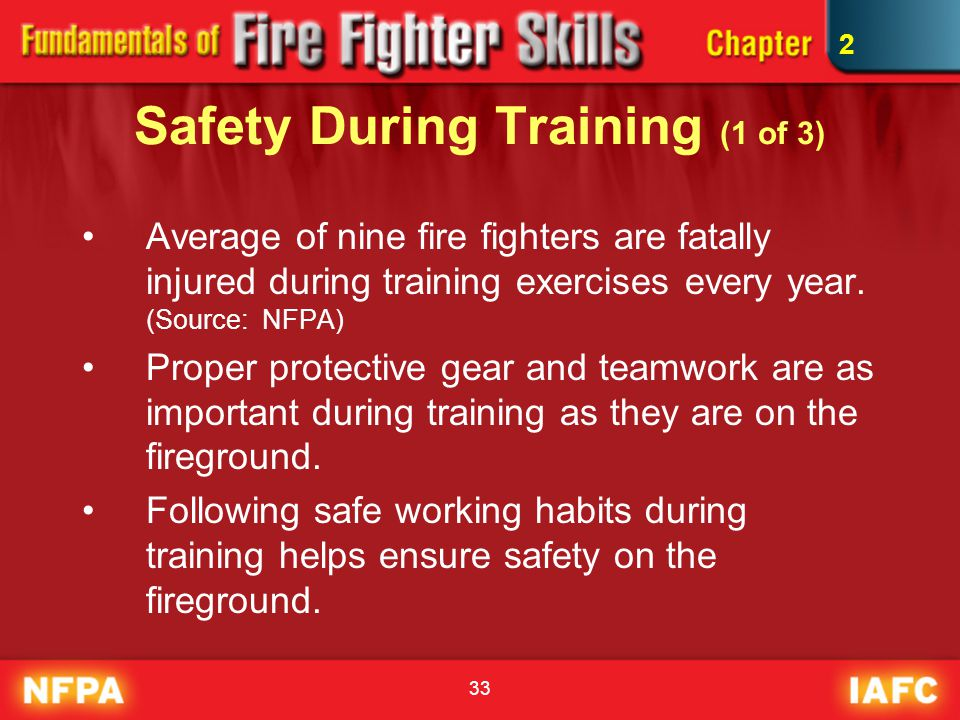 Safety During Training (1 of 3)