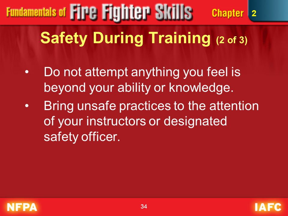 Safety During Training (2 of 3)