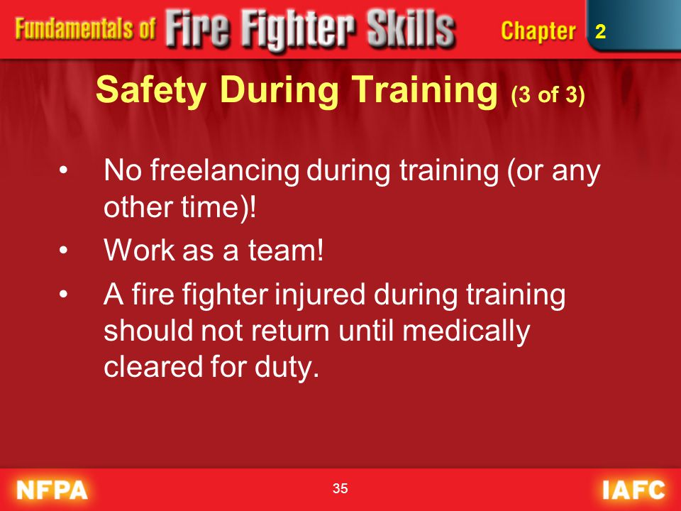 Safety During Training (3 of 3)