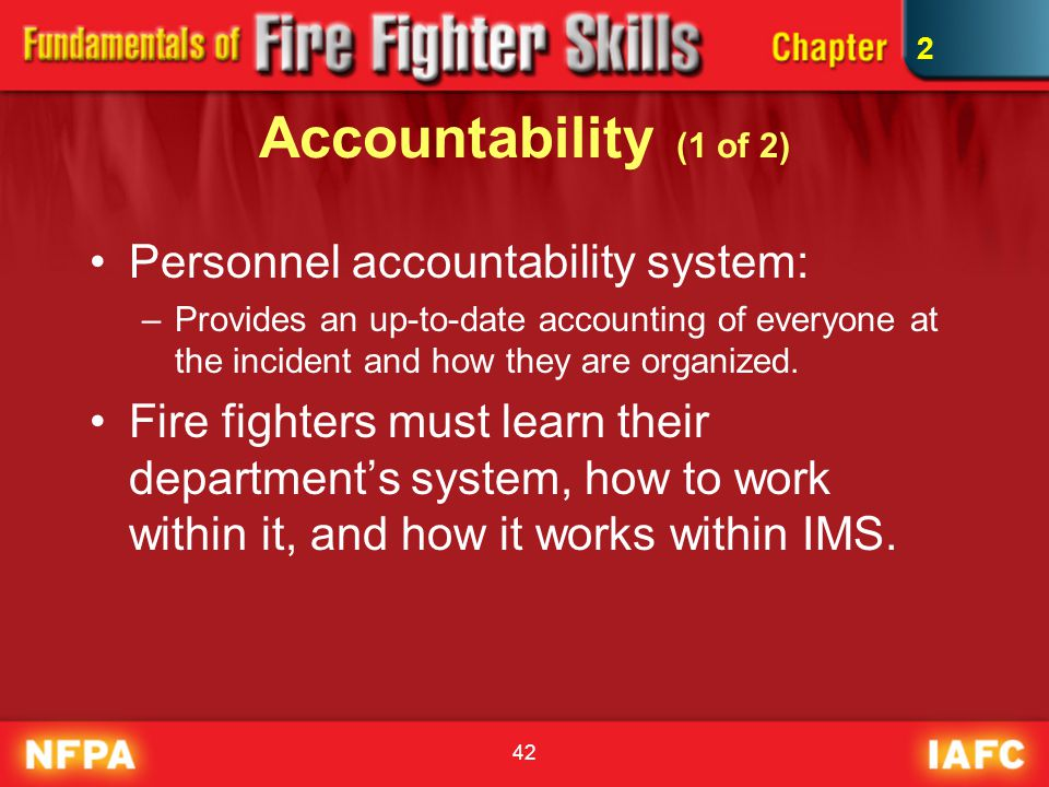 Accountability (1 of 2) Personnel accountability system: