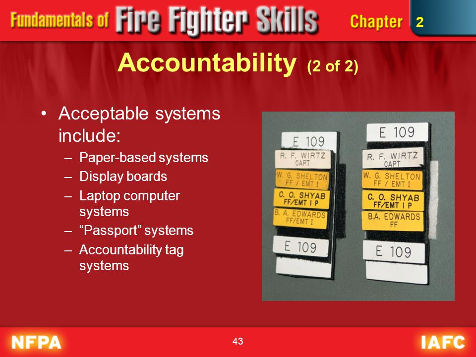 Accountability (2 of 2) Acceptable systems include: 2