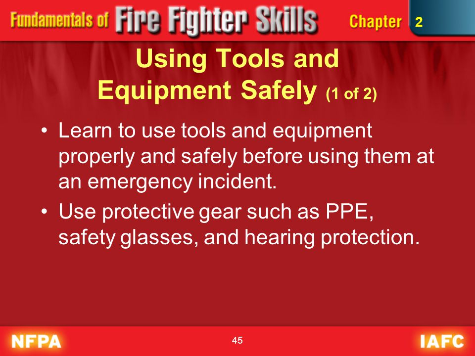Using Tools and Equipment Safely (1 of 2)