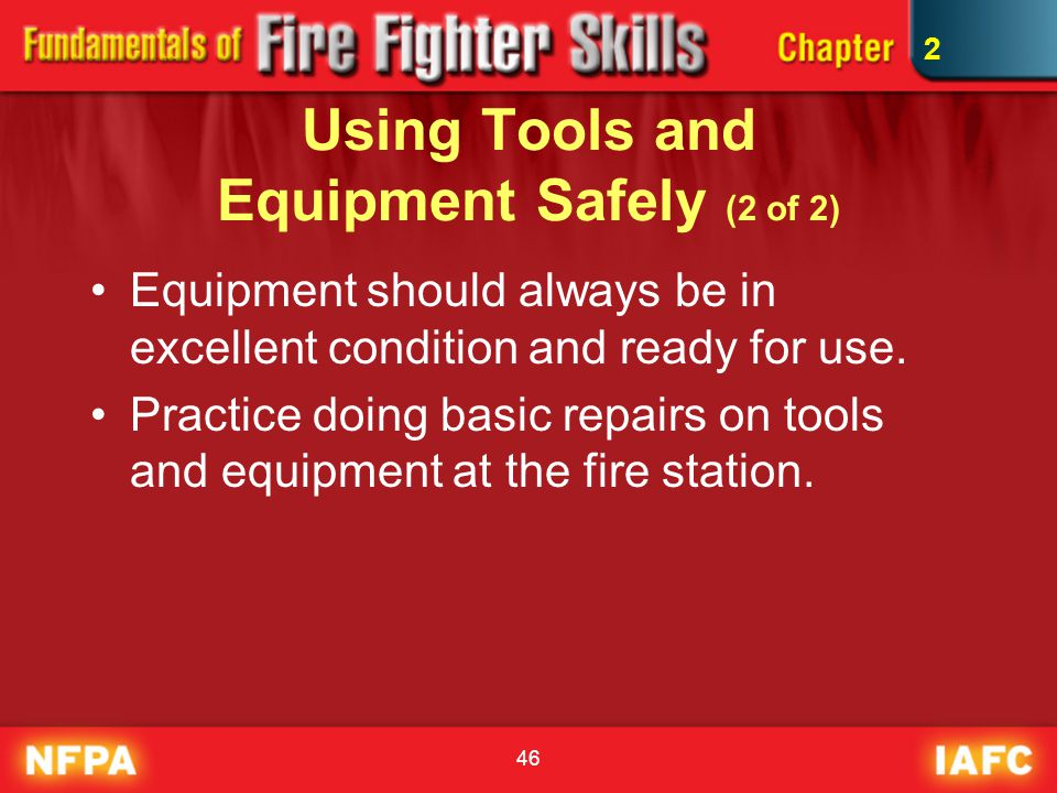 Using Tools and Equipment Safely (2 of 2)