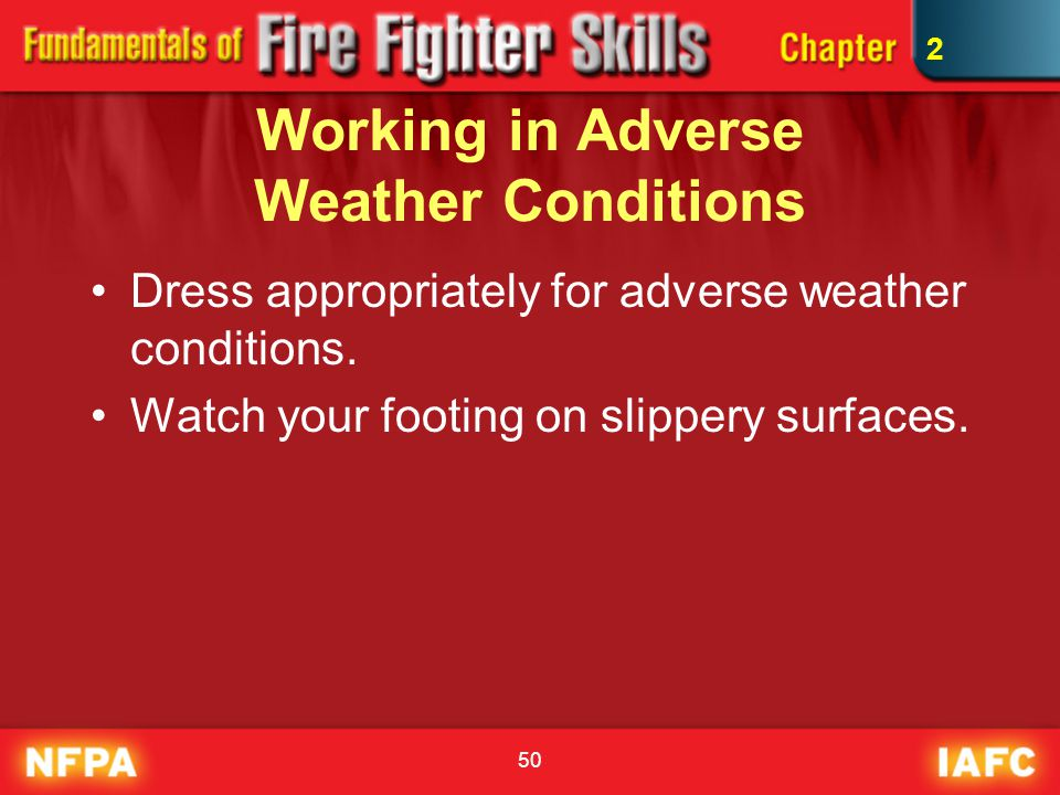 Working in Adverse Weather Conditions
