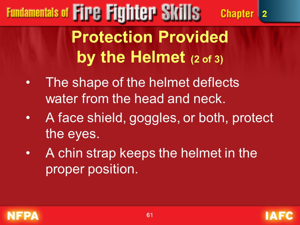 Protection Provided by the Helmet (2 of 3)
