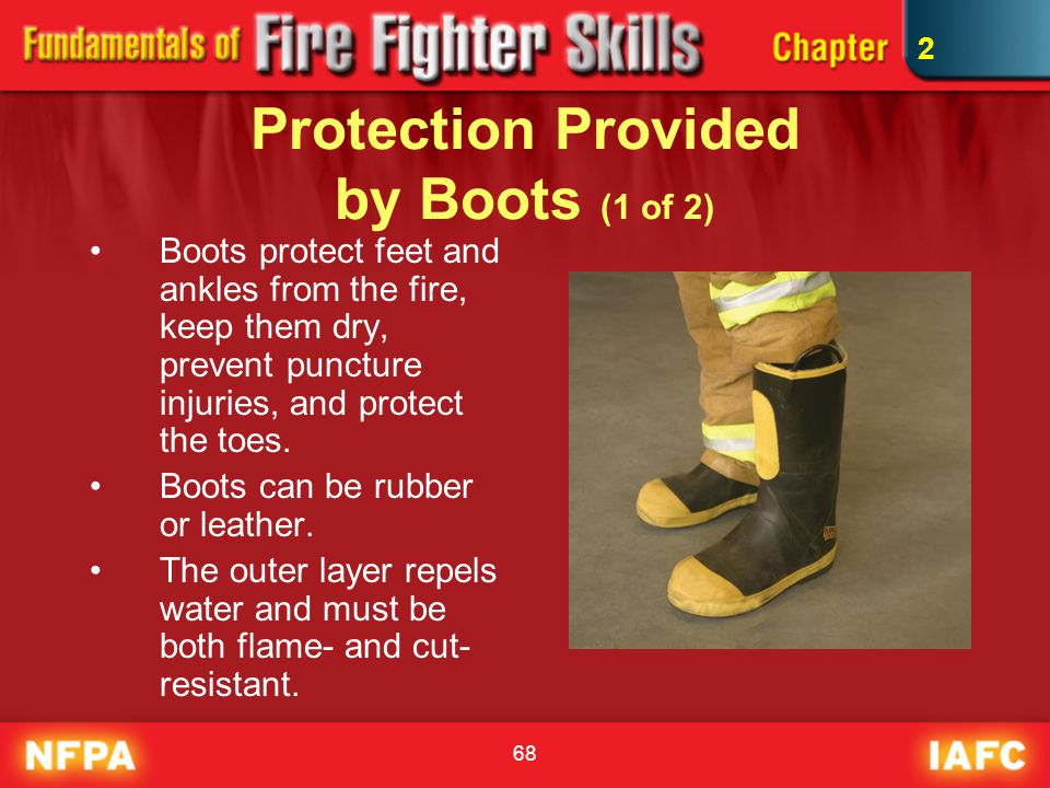 Protection Provided by Boots (1 of 2)